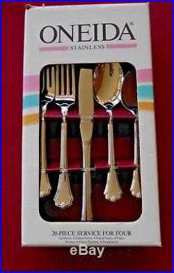 Oneida Stainless MIDTOWNE 20 Piece Service for 4 Unused 18/8 USA Flatware