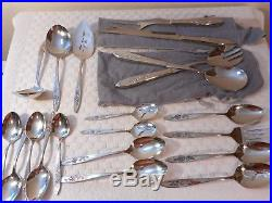 Oneida Stainless Steel Flatware My Rose 105 Pc Wood Box with Drawers PERFECT