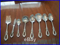 Oneida TOUJOURS Cube Glossy Stainless Flatware 41 Pieces(8 serving pieces)