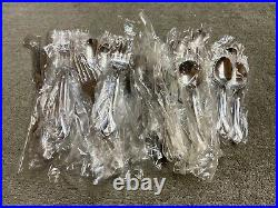 Oneida Tribeca 18/8 glossy Stainless Steel USA Flatware 53 pieces