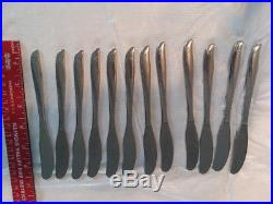 Oneida Twin Star Stainless Flatware with12 9-piece settings + 16 serving pieces