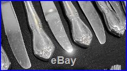 Oneida USA 1881 Rogers Stainless Flatware ARBOR TRUE ROSE set 76 Pc for 12