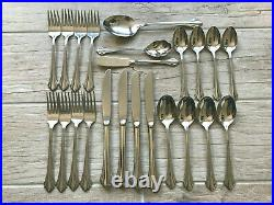 Oneida USA BANCROFT Stainless Flatware 4 Place Settings + Serving 23 Pcs Total