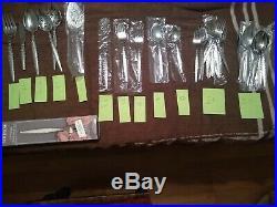Oneida VENETIA Silverware Piece COMMUNITY Stainless Flatware 131 pieces total