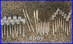 Oneida Will O Wisp Stainless Cube Flatware 29 Pieces Serrated Knives Forks PLUS