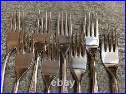 Oneida Woodmere Community stainless steel flatware 50 piece set