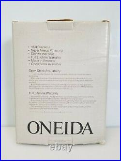 Oneida Wordsworth 53-Piece Set 18/8 Stainless Flatware Service for 8 Made in USA
