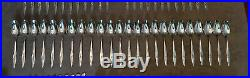 Oneida craft LASTING ROSE Deluxe Stainless Flatware Set Service for 12 EUC 74pc