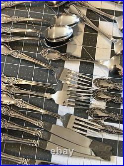Oneida louisiana stainless flatware 20 piece set in box service for 4