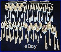 Oneida stainless flatware Satin Garnet 50 pieces total 18-10