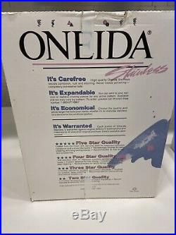 Oneida stainless flatware set Woodcrest New In Box! Rare