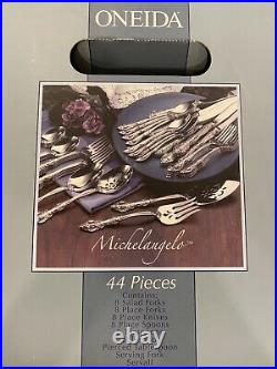 Oneida stainless flatware set for 8 Michelangelo