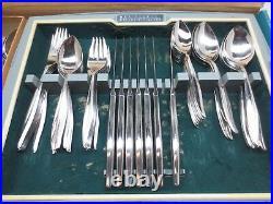 Oneidacraft Textura 79 Piece Stainless Flatware Set Vintage Original Box