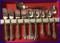 Pre-owned 62 Pc USA Oneida Community Satinique Stainless Flatware Serving For 12