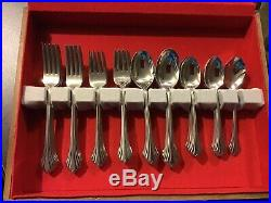 Pre-owned USA 64 Pc. Lot Oneida Bancroft Flatware Serving For 12 + 4 Servers