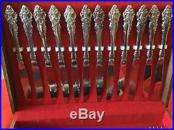 Pre-owned USA 71 Pc. Oneida Community Cherbourg Flatware Serving For 12 + More