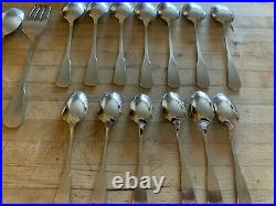 S. S. S. Colonial Boston Oneida Stainless Flatware 41 Pieces VG++