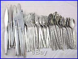 SATINIQUE Oneida Community MID CENTURY MODERN Flatware 60 PCS Service / 12 MINT
