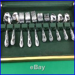 STAINLESS ONEIDA vintage MCM set CUSTOM Craft 60 pcs THOR OHS103 Service for 12