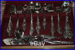 Service For 12 98 Pcs ONEIDA LOUISIANA Stainless Steel Flatware With Box