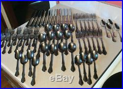 Service for 12 & Oneida Oneidacraft Deluxe Chateau Stainless USA