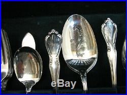 Service for 12 Oneidacraft Deluxe Stainless Flatware Chateau Pattern Oneida