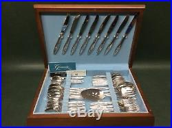 Set of 49 Pcs ONEIDA Oneidacraft Deluxe LASTING ROSE with Chest Service for 8