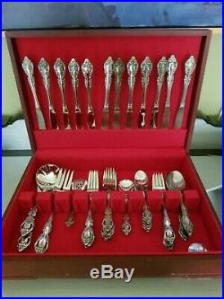 Set of 52 Oneida BRAHMS Stainless Steel Flatware with Case