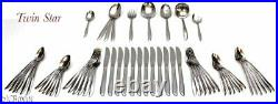 Stainless steel ONEIDA TWIN STAR FLATWARE SET iced tea spoons other servings
