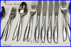 Stainless steel ONEIDA TWIN STAR FLATWARE Set service 4 w citrus seafood spoons