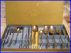 VIntage Oneida Deluxe Solid Stainless 35 Pc Flatware By Oneida Silversmith