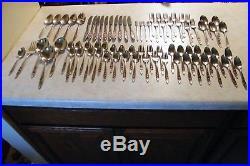 Vintage 77 Piece Oneida Community Betty Crocker Stainless Flatware My Rose Lot
