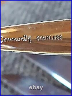Vintage MCM Oneida Community Venetia Stainless Steel Flatware Set 52 Pieces