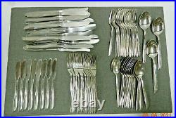 Vintage ONEIDA Community Twin Star Stainless Flatware Atomic MCM (74) pieces