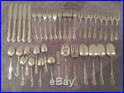 Vintage ONEIDA Oneidacraft Deluxe Stainless Steel 38 Pieces CHATEAU Flatware USA