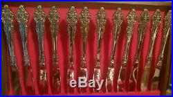 Vintage Oneida CHERBOURG Flatware Set Service for 12 Stainless 73 Pieces 1981