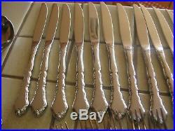 Vintage Oneida Community Satinique Stainless Flatware Large 63 Piece Set