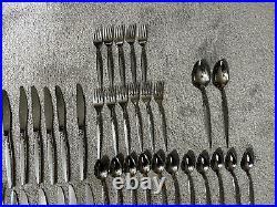 Vintage Oneida Community Venetia Stainless Steel Flatware 71 Pc Fork Knife Spoon