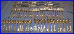 Vintage Oneida TOUJOURS Stainless HEIRLOOM CUBE Flatware Silverware 60pc setting
