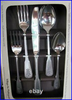Vintage Pfaltzgraff Village Oneida 20 Piece Stainless Tableware Silverware NEW