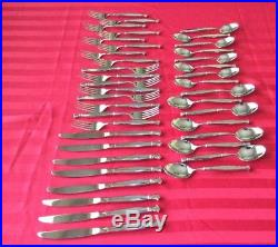 Vintage Set of 40 Oneida ACT I Stainless Heirloom Cube Flatware 8 Place Settings