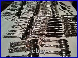 Vtg ONEIDA MICHELANGELO Heirloom Stainless Flatware 100 Piece Service for 12