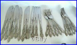 Wm A Rogers Deluxe Oneida Ltd Stainless Flatware Huntington 87 Pc Set