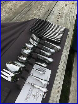 Wm Rogers ONEIDA Stainless Flatware Set MANSFIELD / AMADEUS Service For 12